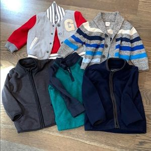 Lot of 12-18 month toddler boy jackets/sweaters!